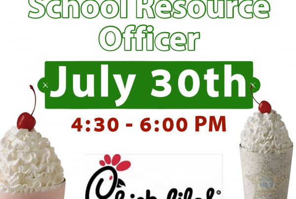 milkshakes, event, invitation, Milkshake with a School Resource Officer, July 30th, 4:30 - 6:00 PM, location: Chick-fil-A at Bayou Boulevard; Pensacola