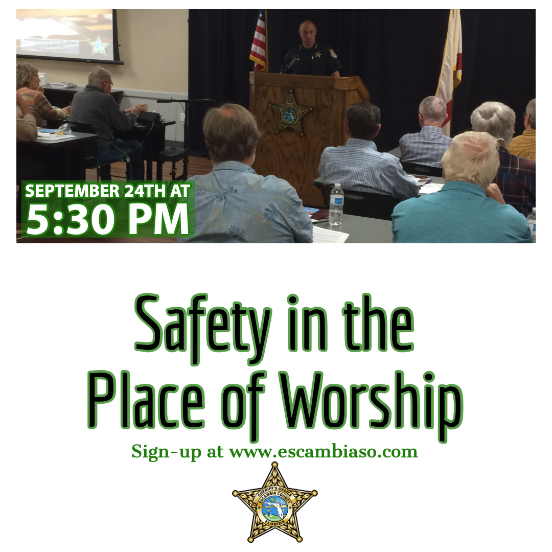 Safety in the Place of Worship September 24th