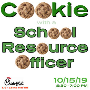 Cookie with a School Resource Officer