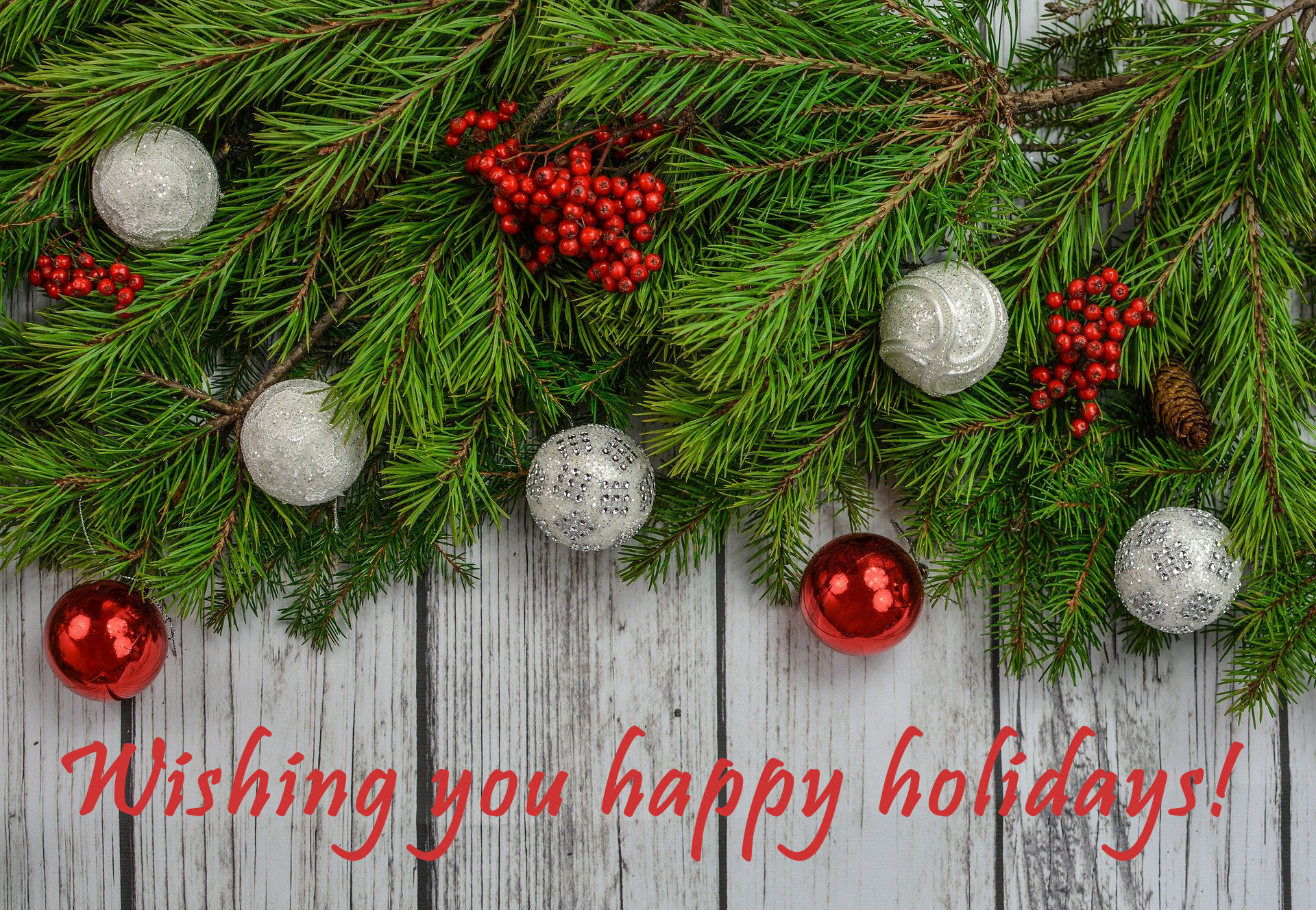 Wishing you happy holidays banner