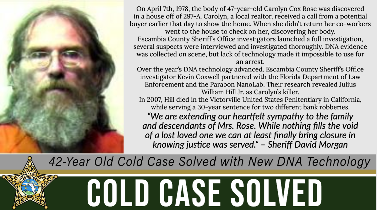 42-Year Old Cold Case Murder Solved